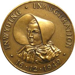SA Union: Inauguration of Voortrekker Monument, Female Obverse