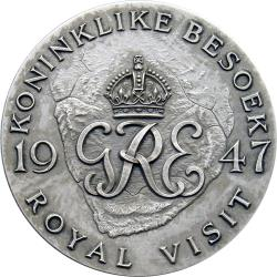 SA Union: Royal Visit of King George VI & Queen Elizabeth, Presented to Europeans / Royal Cypher & Map