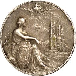 Great Britain: Coronation of King Edward VII / Art Nouveaux Britannia and Westminster Abbey