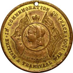 "Australia: Boer War: Queen Victoria, ""Commemoration of Peace"" / Lord Roberts"