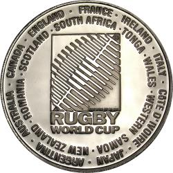 RSA (Post-1994): South African Rugby World Cup: Bushman Rugby Rock Painting