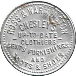 Canada: Boer War: Peace in South Africa, Clasped Hands: Advertising Token