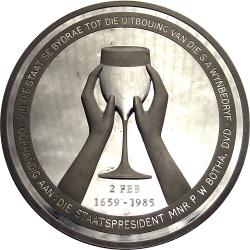 RSA (Pre-1994): Groot Constantia 1659 Medal of Honour Presented to State President P.W. Botha for the State's Contribution to the Wine Industry