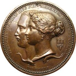 Great Britain: Great Exhibition: Queen Victoria & Prince Albert / Prize Medal