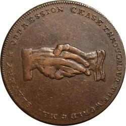 Great Britain: Abolition of the Slave Trade Halfpenny, Am I not a Man and a Brother?