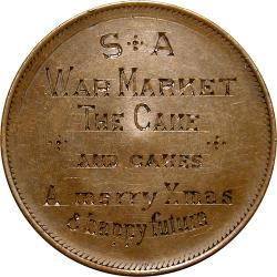 Z.A. Republic: Boer War: Engraved Penny / War Market