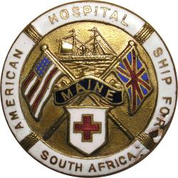 Great Britain: Boer War: American Hospital Ship Maine Badge