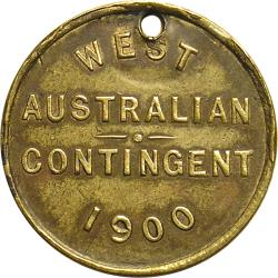 "Australia: Boer War: Flags ""Queen and Empire"" / ""West Australian Contingent"""