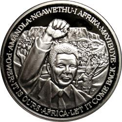 RSA (Pre-1994): Nelson Mandela, Cape Town Rally / United States Eagle