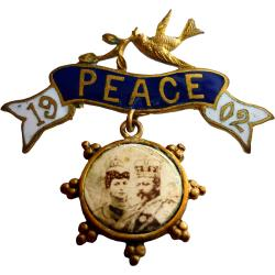 Great Britain: Boer War: King Edward VII & Queen Alexandra: Peace Pendant