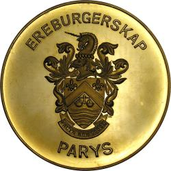 RSA (Pre-1994): Tribute H.J. Klopper from the Town of Parys