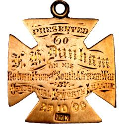Canada: Boer War: Tribute Medal from Epsworth League