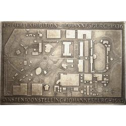 SA Union: Johannesburg Empire Exhibition: Gold Mine / Exhibition Layout Plan Plaque