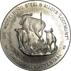 "RSA (Pre-1994): Middelburg Steel & Alloys ""Tossing Coin"""