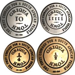 RSA (Post -1994): Bi-Centennial of the Griqua Town Coinage - Commemorative Set