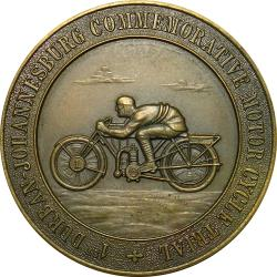 RSA (Pre-1994): Durban-Johannesburg Commemorative Cycle Trial Finishers Award