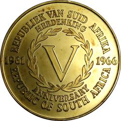 RSA (Pre-1994): Fifth Anniversary of the Republic of South Africa